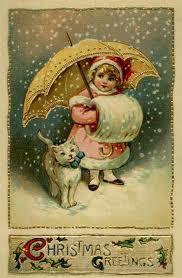 postales-saludo-navidad-antiguas-nieve