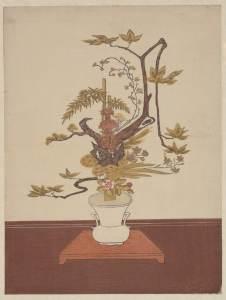 ikebana-woodblock-print